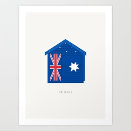 Australia, Brighton Beach Bathing Box, Melbourne Art Print