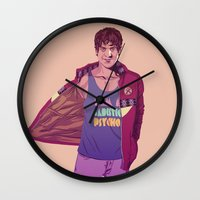 90s Wall Clocks featuring 80/90s - RS by Mike Wrobel