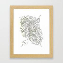Grungy Energy Framed Art Print