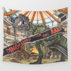 When Dinosaurs Ruled the Earth - Jurassic Park T-Rex Wall Tapestry