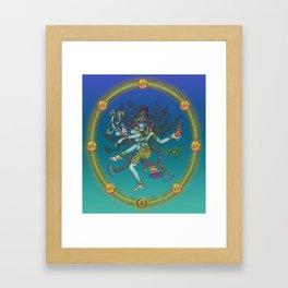 Hindu goddess Saraswati Framed Art Print