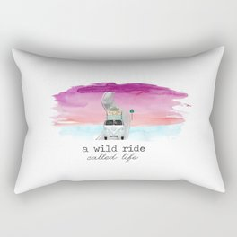 A Wild Ride Called Life Rectangular Pillow