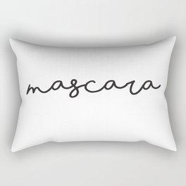 Mascara, Lettering Prints, Wall decor, Farmhouse Bathroom, Fashion Quotes, Typography Print Rectangular Pillow