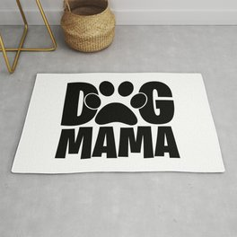 Dog Mama Pet Paw Womens Rug