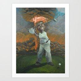 Golfin with Donny Art Print