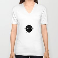 minimalist V-neck T-shirts featuring MINIMALIST by momos