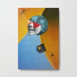 Collapsed Head Metal Print