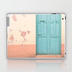 Blue Door (Retro and Vintage Urban, architecture photography) Laptop & iPad Skin