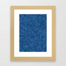 november blue geometric pattern Framed Art Print