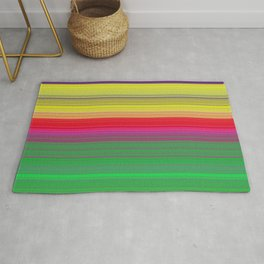 colorful horizontal lines Rug