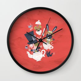 Mad Hatter's Tea Party - Alice in Wonderland Wall Clock