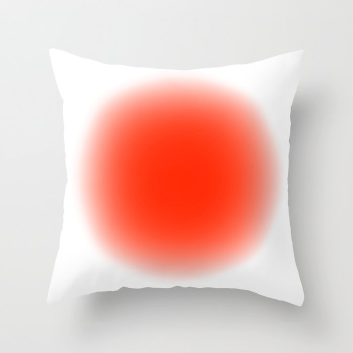 Fluodot Orange Throw Pillow By