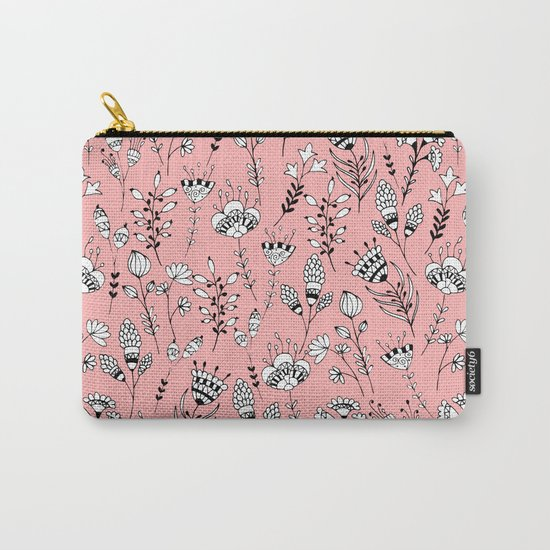 Floral pink pattern Carry-All Pouch