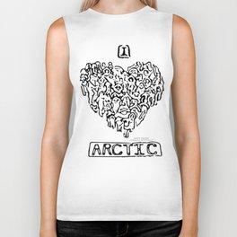 I Heart Arctic By Joseph Winters Biker Tank