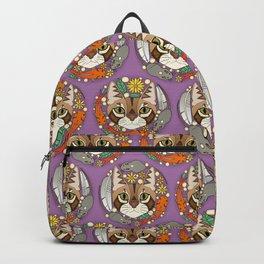 a cat's life polka violet Backpack