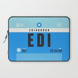 Luggage Tag A - EDI Edinburgh Scotland Laptop Sleeve
