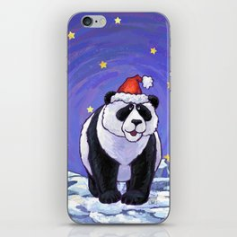Panda Bear Christmas iPhone Skin