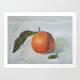 Orange Mandarine Fruit Painting Art Print