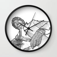 pulp Wall Clocks featuring pulp by BzPortraits
