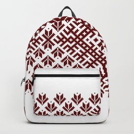 Latvian Traditional Folk Belt Design Pattern Backpack