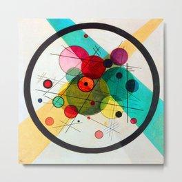 Kandinsky Circles in a Circle Metal Print