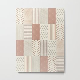 Rustic Tiles 02 #society6 #pattern Metal Print