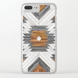Urban Tribal Pattern 8 - Aztec - Wood Clear iPhone Case