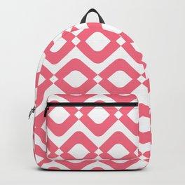 Paper Harlequin Trellis Coral & White Backpack