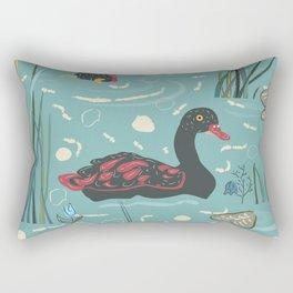 Duck Bird Seamless Pattern Rectangular Pillow