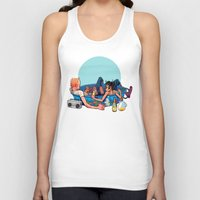 pool Tank Tops featuring pool party by musa