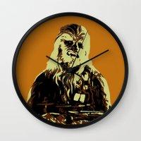 chewbacca Wall Clocks featuring Chewbacca by iankingart