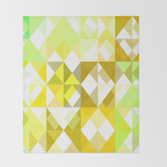 ec2b83bbea Pale Yellow Poinsettia 1 Abstract Triangles 1 Throw Blanket by  christopherjohnsonart