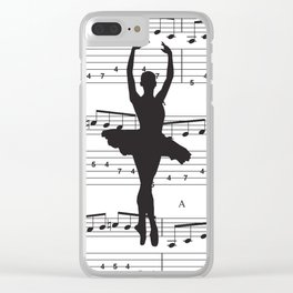 ballerina art, music Notes , girls nursery art, ballerina décor , girls nursery art , Clear iPhone Case