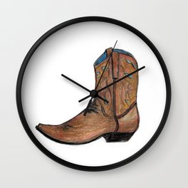 This Boot was Made for Walking Wall Clock