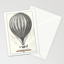 The Vauxhall balloon (1850) Stationery Cards