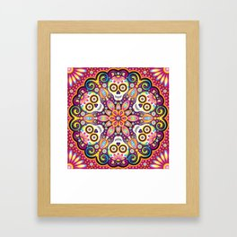 Sugar Skull Mandala - Day of the Dead Mandala Art by Thaneeya McArdle Framed Art Print
