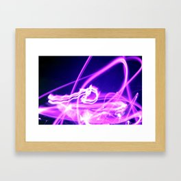 Hot Pink Sparkler Flames Framed Art Print