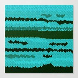 Aquamarine Fish Coat Canvas Print