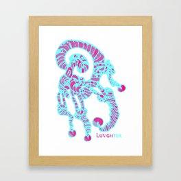 LUVGHTER - Original, Mr Pink Mrs Blue Framed Art Print