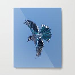 Geometric Blue Jay Metal Print