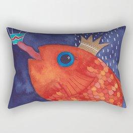 Something's Fishy Rectangular Pillow