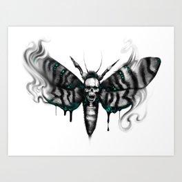 Death head hawkmoth Art Print