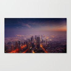 Dubai Colors Canvas Print