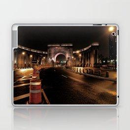 manhattan bridge at night Laptop & iPad Skin