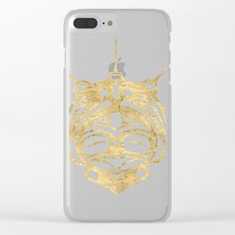 Gold Frog Spirit Clear iPhone Case