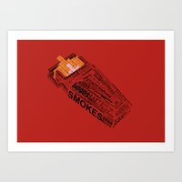 cigarette Art Prints featuring Cigarette? by Anthony Wallace