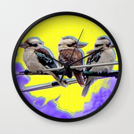 Urban Kookaburras (or A Bird-cast in Technicolor) Wall Clock