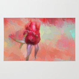 Red Rose In Spring Rug