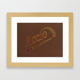 Accio! in Red Framed Art Print
