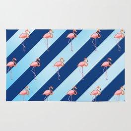 Stripey Flamingos Rug
